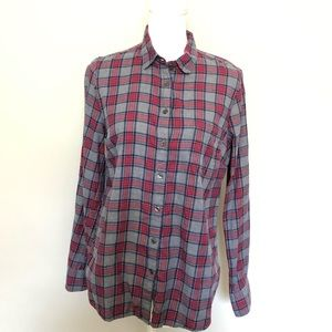 J Crew Flannel Plaid The Perfect Short Grey Red